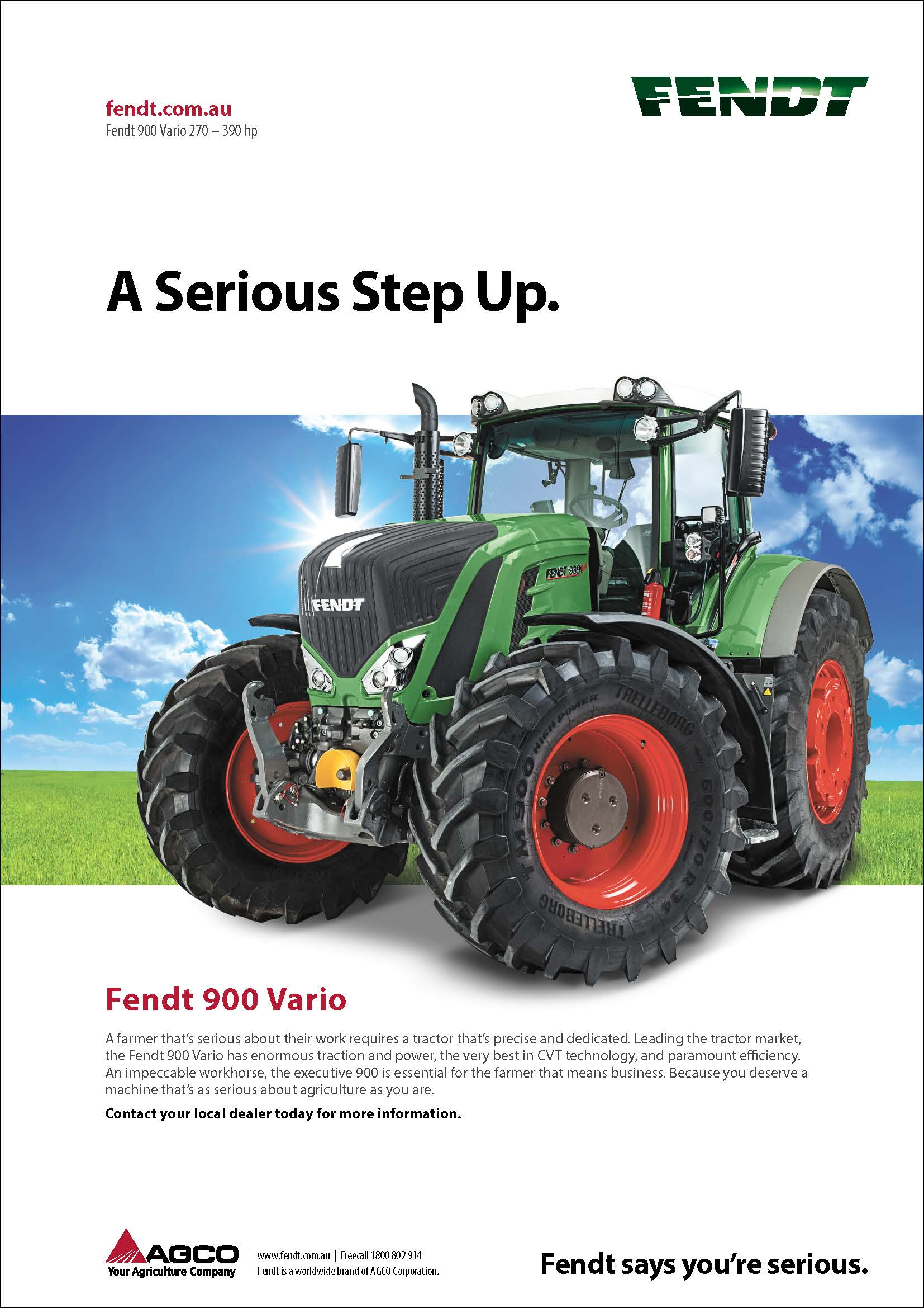 The Fendt 900 Series