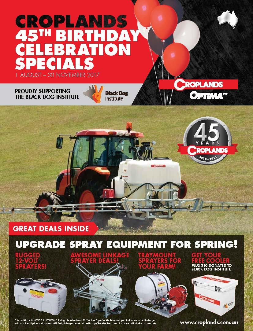 Croplands Optima 45th Birthday Spring catalogue